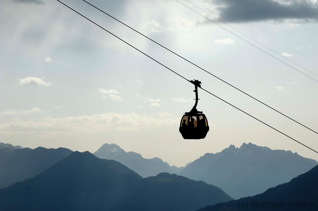 Gondelbahn, Berge, Schweizer Alpen, Riederalp