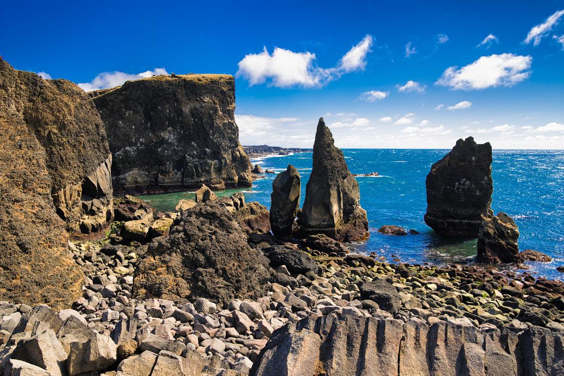 Reykjanes Cliff Coast in southwest Iceland