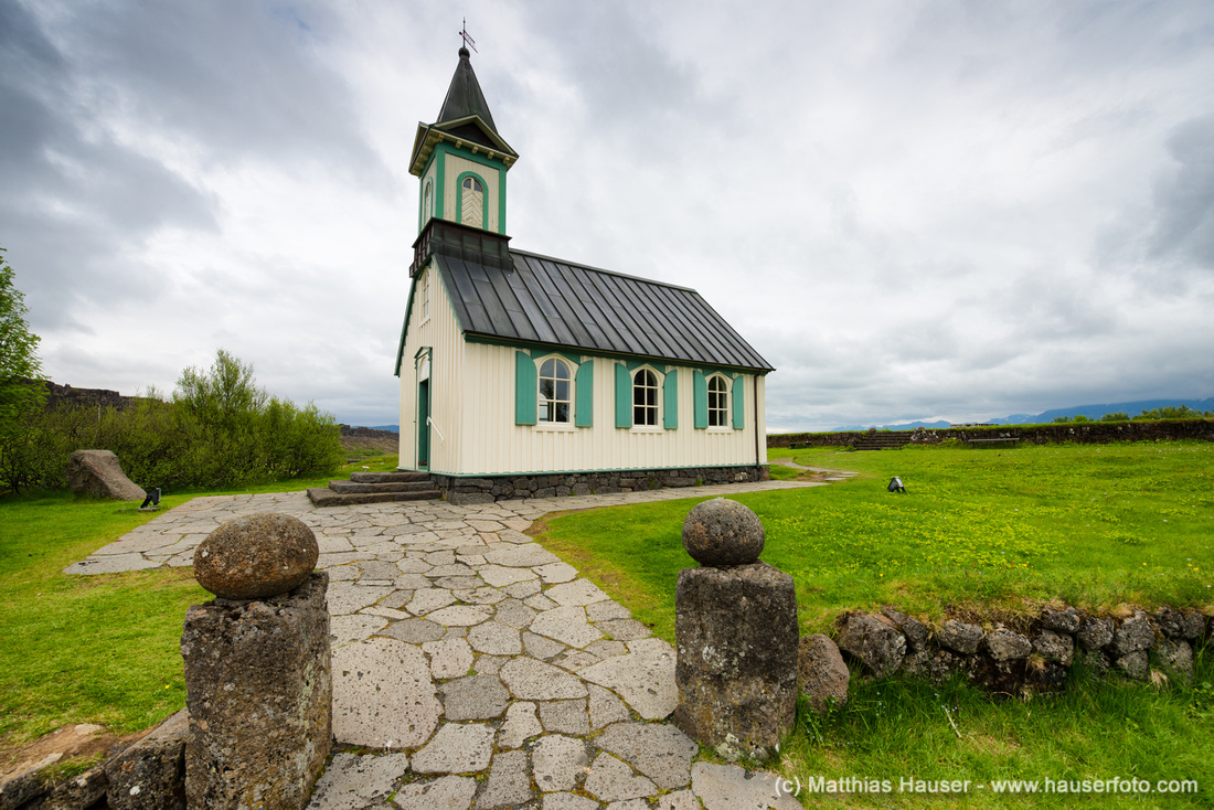 Church Pingvallakirkja Iceland Pingvellir by Matthias Hauser
