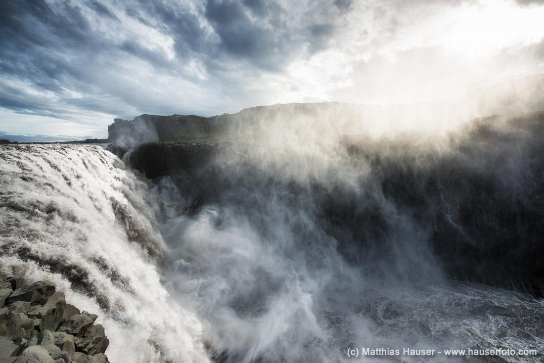 Wasserfall Dettifoss Island - Waterfall Dettifoss Iceland