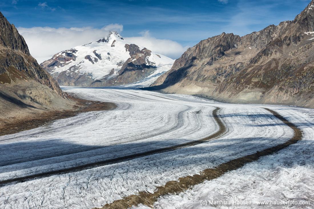 Gletscherstraße Großer Aletschgletscher, Schweizer Alpen, Schweiz, Europa - Aletsch Glacier Swiss Alps Switzerland
