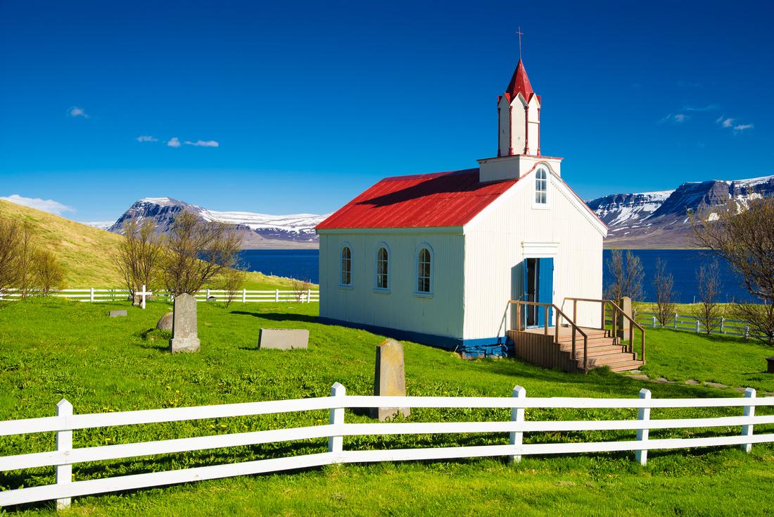 Hrafnseyri kirkja church in Iceland