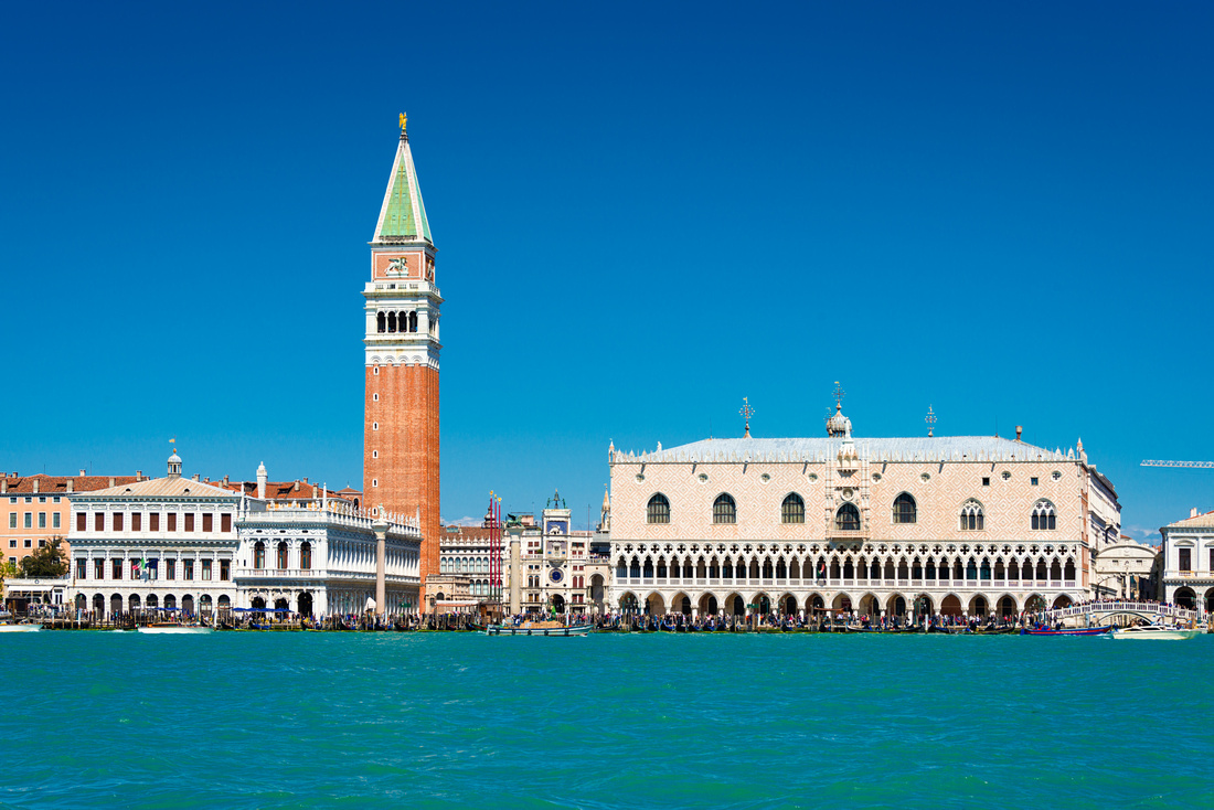 Campanile and Doges Palace Venice Italy